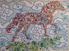 Cheval des nuages