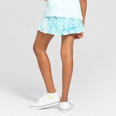Girls' Striped Performance Skort - C9 Champion - Mint XS, Girl's, Blue