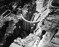 On the anniversary of the Hoover Dam dedication, we take a look back at its construction and other very recognizable sights when they were still works in progress. Hoover Dam Construction, Under Construction, World Icon, Lake Mead, Colorado River, The World's Greatest, Aerial View, Historical Photos, Bouldering