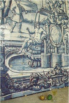 portuguese tiles Tile Murals, Tile Art, Paint Tiles, Portugal, Mosaic Glass, Mosaic Tiles, Tile Panels, Antique Tiles, Portuguese Tiles