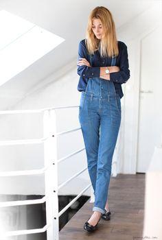 7a020dae5c17 Lolita in Overalls Jean Vintage, Double Denim, Denim Jeans, Blue Jeans,  Denim