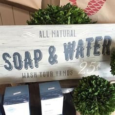 I made this as a reminder to my boys.... Wash your hands! #arworkshop #Pineville…