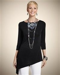 Chico's Traveler's top - I get a lot of use out of this top (looks very nice belted too)