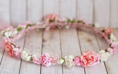 Boho Hair CrownFlower Girl WreathBridal Hair by LuckyKidsHandmade