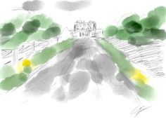 cliveden - sketch by myself and part of the latest blog post