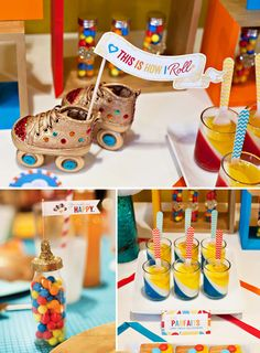 Little kids will love the colour, the kids at heart will love the retro vibe! #party #birthday #kids