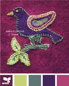 Almost as cute as something my sis-in-law would make - and the colors are yummy!