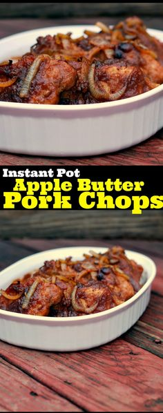 Instant Pot Apple Butter Pork Chops | Aunt Bee's Recipes