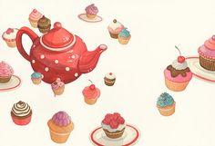 Time for Tea Print by beckiharper on Etsy