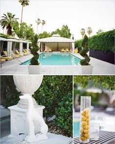 One of my fav design inspirations + Amazing ambience for dinner + drinks by the pool. Viceroy Palm Springs Pool.