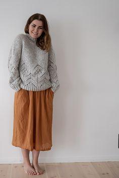 Ravelry: Magnolia Chunky pattern by Camilla Vad Knitting Supplies, Camilla, Magnolia, Ravelry, Knit Crochet, Midi Skirt, Pullover, Skirts, Summer