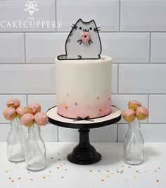 Pusheen inspired donut cake and pops Cupcakes, Cupcake Cakes, Pusheen Cakes, Pusheen Birthday, Dance Cakes, Cake Decorating For Beginners, Quick Cake, Dream Cake, Novelty Cakes
