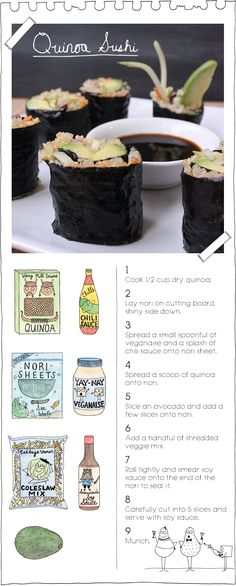 Quinoa Sushi | The Vegan Stoner | Bloglovin'