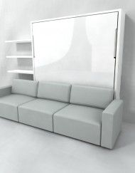 At Expand Furniture we specialize in custom space saving furniture. our sectional wall bed couch provides the user with great seating and a hidden bed. Murphy Bed With Sofa, Murphy Bed Desk, Modern Murphy Beds, Murphy Bed Plans, Expand Furniture, Space Saving Furniture, Sofa Bed, Sectional Sofa, Sofa Sleeper