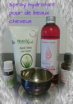 Spray cheveux à la glycérine et à l'aloé vera