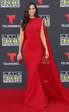 Melissa Carcache from 2015 Latin American Music Awards: Red Carpet Arrivals  The Nickelodeon star looks absolutely gorgeous in a figure hugging red gown.