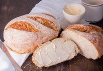 Try this tangy Homemade Sourdough Bread recipe from Jennifer Locklin of JenniferCooks.com. It makes a great sandwich bread with it's medium crumb and smooth texture.