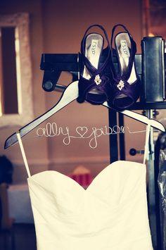 Bride & Groom hanger idea // Photo by Sarah M. #weddingphotographerminnesota #weddingphotography