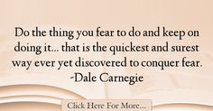 Dale Carnegie Quotes About Fear - 21897