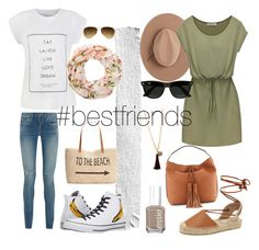 """""""Best friends at Central Park"""" by lelekatz ❤ liked on Polyvore featuring Yves Saint Laurent, Style & Co., Ray-Ban, Converse, Soludos, Satya Twena, Forever 21, Essie and Rebecca Minkoff"""