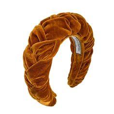 Velvet Headband in Toffee gold velvet headband Hair Scarf Styles, Headband Styles, Wedding Hair Inspiration, Inspiration Mode, Bobby Pin Hairstyles, Headband Hairstyles, Hair Accessories For Women, Fashion Accessories, Toffee