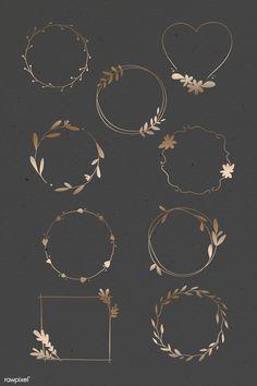 Frame Floral, Flower Frame, Bullet Journal Art, Bullet Journal Ideas Pages, Pink Floral Background, Free Doodles, Instagram Emoji, Snapchat Stickers, Snapchat Logo