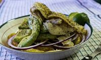 Blackened Tilapia with Orange-Avocado Salad #diabetes #recipes