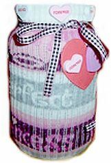 Recycle a Sock into a Jar Cover       Jars can be used to store just about anything. They can also be used as a creative container for a gift, such as a cookie mix, valentine candy, or bread mixes. Reusing an old sock to cover a jar gift will add more homemade charm.    Sock Jar Cozie