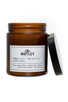 The Motley Alder 100% Soy Candle, $28; themotley.com Unlike many tree-evoking candles that do quite the opposite, the emphasis here is on the bark, not the needles or leaves.