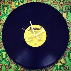 LP klok DIY / Vinyl clock how to Retro Vintage