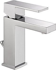 Delta Faucet 567LF-PP Modern Single Handle Bathroom Faucet, Chrome