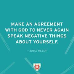 Speak positively!  #Agreement #JoyceU