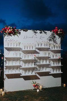 White champagne wall for your wedding reception. Diy Wedding Bar, Wedding Day Tips, Brewery Wedding, Wedding Wall, Wedding Places, Diy Wedding Decorations, Wedding Locations, Wedding Themes, Wedding Reception