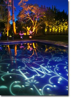 Monogram in pool/lighting company can create this effect