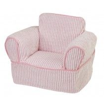 Attrayant Pink And White Chenille Childrenu0027s Chair Slipcover