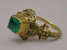 Forget-Me-Not Tudor Designs Page Liked · 10 hrs ·     16th century ring Credit unknown, so sorry. It makes me wonder who wore this