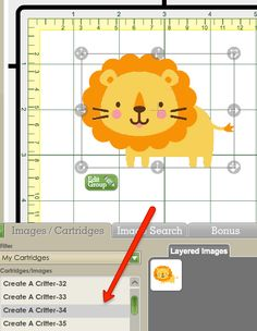 There's an easy way to cut the animals out in the proper colors on Create A Critter using the Cricut Craft Room.