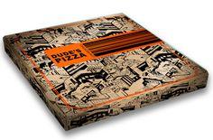 PIZZA BOX DESIGN by Yulia Bakhtiozina, via Behance