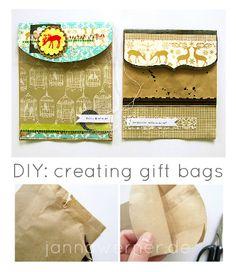 DIY: creating gift bags