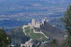 Rocca Maggiore in Assisi Italy