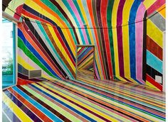 Markus Linnenbrink Debuts Disorienting Rainbow Room in Germany (9 pictures)