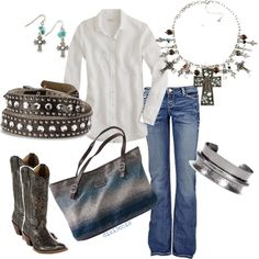denim & white, love to wear white. Romantic but simple