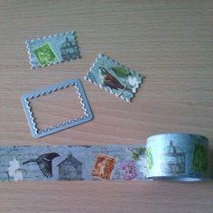 Sellos de washi tape troquelado
