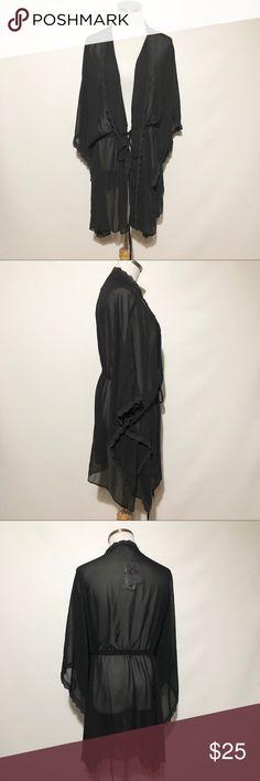 Solatin Sheer Kimono NWT! Sheer, ties at waist. Solatin Tops Tunics