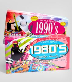 """Decades Candy Box from Fred Flare! How fun! I am sure i tried them all """"back in the day"""""""