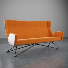 Christian Kroepfl - Architect & Designer in Vienna - Christian Kröpfl Metal Furniture, Modern Furniture, Furniture Design, Wood And Metal, Solid Wood, Vienna, Designer, Christian, Couch