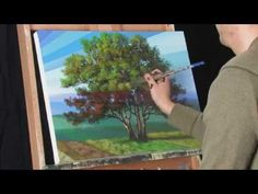 Time Lapse Acrylic Landscape Painting Video Rays of Time by Tim Gagnon - YouTube