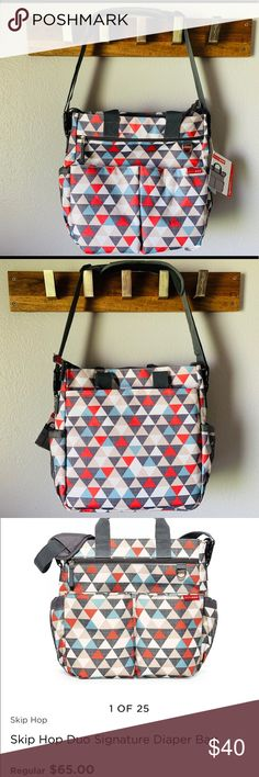 NWT 🌟 Skip Hop Diaper Bag Brand new, never used Skip Hop Signature Duo diaper bag. Has changing pad and plenty of pockets! Diaper Bag Brands, Baby Bags, Changing Pad, Red And Blue, Brand New, Pockets, Best Deals, Closet, Things To Sell