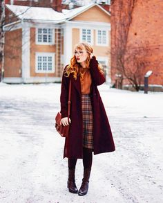 44 Best combination of different styles for winter – Vintage / Rockabilly style – Fall Winter Outfits, Autumn Winter Fashion, Winter Clothes, Dress Winter, Modest Winter Outfits, Fall Fashion, Winter Skirt Outfit, Fashion 2016, Fashion Women