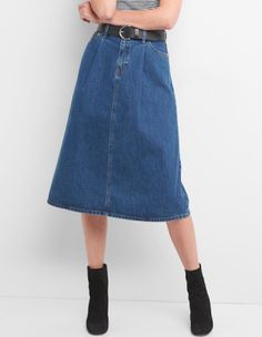 ee8b5d863f High rise A-line denim skirt, Gap, $52 (from $70) High